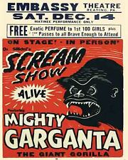 Vintage Freakshow  Sideshow  Circus Fair Carnival   Mighty Gorilla    Art Print