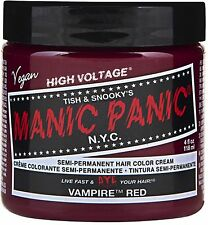 Manic Panic Semi-Permanent Hair Color Cream, Vampire Red 4 oz