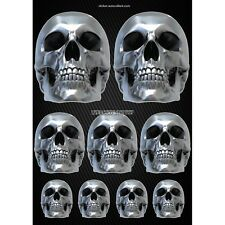 Stickers autocollants Moto casque réservoir Skull Format A3 2507