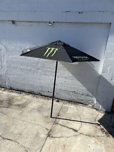 Large 5.5' Monster Energy Patio Outdoor Fabric Umbrella RARE!
