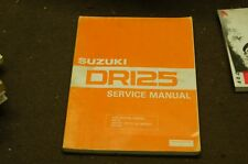 SUZUKI DR125 DR 125 GENUINE SERVICE MANUAL