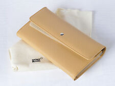 Montblanc Genuine Beige Leather Wallet La Vie De Boheme Model: 38146