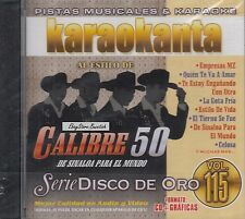 Calibre 50 Serie Disco De Oro Vol 115 Karaoke New SEALED