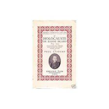 HOLOCAUSTE de JEANNE BIGARD St Pierre APÔTRE 1859-1934 par Paul LESOURD 1938