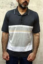AUSTRALIAN L'Alpina Mens Vintage 80s Striped Multi Summer Polo T Shirt 48 M COOL