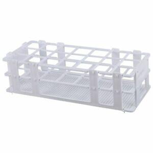 1X(Kunststoff-Reagenzglasgestell für 30-Mm-RöHrchen, 21 Well, Weiß, AbnehmbO3D8)
