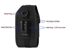 Reiko Heavy Duty Rugged Carrying Side Case Pouch Holster Clip for Cell PHONES
