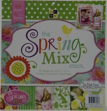 DCWV 12x12 The Spring Mix Stack Paper Pad 48 sheets NEW