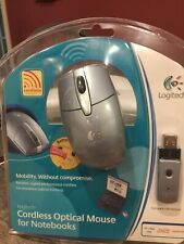 New Logitech M-RAA93 Cordless Optical Mouse for Notebooks
