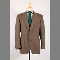 Stafford 41R Brown Solid Wool Two Button Sport Coat Blazer Jacket