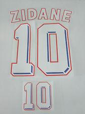Flocage Maillot France  Zidane 10  1998