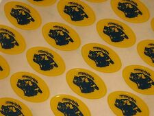 """MICHIGAN """"Style"""" MAIZE Football Helmet Awards Decals FULL Size Qty (20)"""