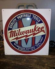 Milwaukee heavy duty advertising metal sign vintage advertisement 12x12 50011