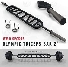 """We R Sports® Triceps Bar Parallel and Angled Handle Multi Grip Olympic Bar 2"""""""