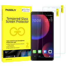 PASBUY 2 Pack Premium Tempered Glass Film Screen Protector for HTC U11 Eyes