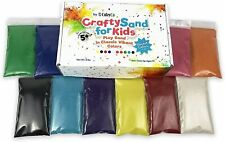 CuteyCo Crafty Sand for Kids 10 Colors Vibrant Craft / Play Sand 3 lbs New