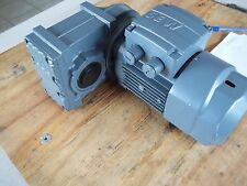 NEW SEW-USOCOME GEARMOTOR WITH BRAKE FA27/GDR63M4/BR/Z  RPM OUT:12 / Kw 0.18