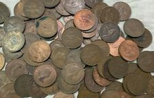 100 x Vintage New Zealand Large One Penny copper Pennies