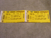 ROD STEWART 2X CONCERT TICKET STUBS FOR 6TH MAY 2005 AT THE MANCHESTER ARENA