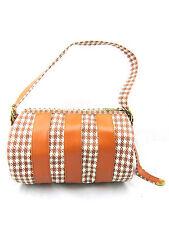 MAC GREGOR Vintage USA Orange Camel Brown Houndstooth Golf Travel Duffle Bag