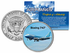 BOEING 747 * Airplane Series * JFK Kennedy Half Dollar Colorized US Coin