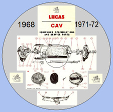Lucas / CAV / Girling 1968 & 1971/72 Master Parts Catalogues