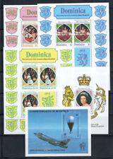 Dominica 1979-83 Foglietto 100% Nuovo ** Aviazione, Famiglia reale