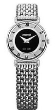 Jowissa Swiss Roma Numerals Black Dial Silver Tone Women's Watch J2.007.S SD9