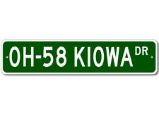 OH-58 OH58 KIOWA Street Sign - High Quality Aluminum