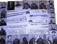 24 Union General Photos + 53 DEATH CERTIFICATES Civil War Survivors Documents
