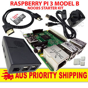 Raspberry Pi 3 Model B - 1.4 Ghz NOOBS 16GB Switch 2.5A Power Supply Fan Cooled