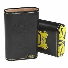 Asylum Leather 3 Cigar Travel Case YELLOW/Black Holds 3 70 Gauge Cigars SAVE 38%
