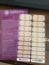 Jamberry Candy Chevron A532 Nail Wrap Full Sheet Retired Design