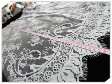"""Lace Fabric Trim Retro Tulle Embroidery Rose Floral  Wedding Fabric 43""""*59"""""""