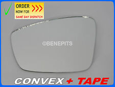 Wing Mirror Glass For VW UP 2011-2017 CONVEX + TAPE Left Side #1058