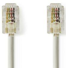 9M NINE METRE 4P4C RJ10 RJ12 RJ22 MALE TO MALE TELEPHONE HANDSET CABLE, WHITE