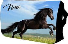 Personalizzata BLACK HORSE COLLEGE / Messenger / SHOLDER / Scuola / Borsa Laptop
