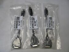 Dell 023NVR DisplayPort to DVI Video Adapter Cables Lot of 3