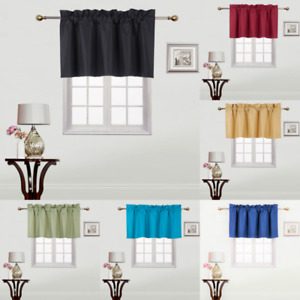 "1PC STRAIGHT VALANCE SWAG LINED WINDOW CURTAIN DRAPE SOLID COLORS 38"" W X 18"" L"