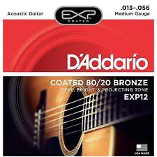 D 'Addario EXP12 Cuerdas Guitarra Acústica Bronce Recubierto 80/20 medio 13-56