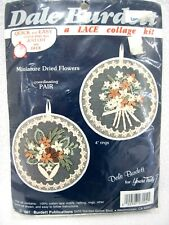 NEW DALE BURDETT COTTON LACE COLLAGE KIT LC04 PAIR MINIATURE DRIED FLOWERS