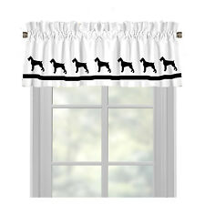 Giant Schnauzer Dog Window Valance Curtain .. Choice of Colors*