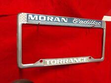 Moran Cadillac Torrence * Dealer License Plate Frame pre-owned
