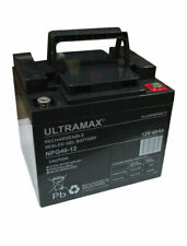 ULTRAMAX NP38-12 - 12V 38Ah 'AGM' DEEP CYCLE BATTERY - SOLAR POWER STORAGE