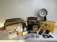 📸 Vintage 1950s Kodak 3D Bakelite Stereo 35mm Film Camera w/ Lots Of Extras 📸