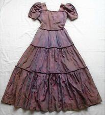 Vintage Victorian style crinoline taffeta dress - theatrical costume, steampunk