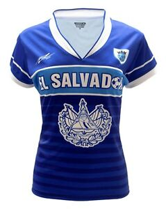 El Salvador Women Soccer Jersey New With out Tags Color Blue Slim Fit