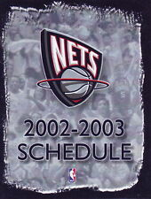 2002-03 NEW JERSEY NETS BASKETBALL POCKET SCHEDULE - MOBIL