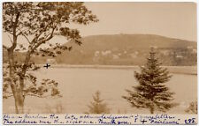 Real Photo Postcard Mount Battie from Sherman Point in Camden, Maine~107754