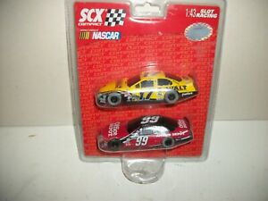 SCX 1/43 SLOT CARS 2 Pack 1:43 NASCAR #17 & #99 new in package